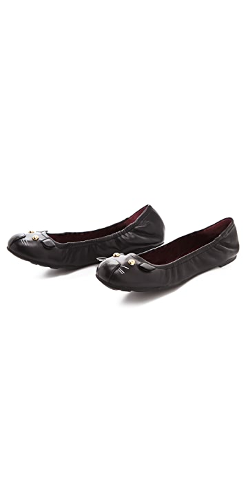 Marc by Marc Jacobs Elastic Top Line Mouse Flats