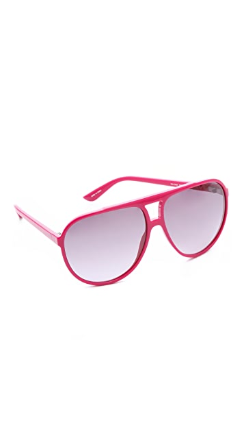 Marc by Marc Jacobs Oversized Plastic Aviator Sunglasses