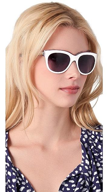 Marc by Marc Jacobs Triple Laminate Cat Eye Sunglasses