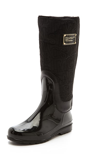 Marc by Marc Jacobs Logo Nylon Weather Boots