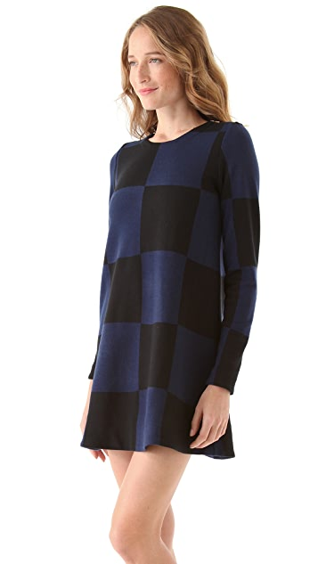 Marc by Marc Jacobs Checkered Sweater Dress