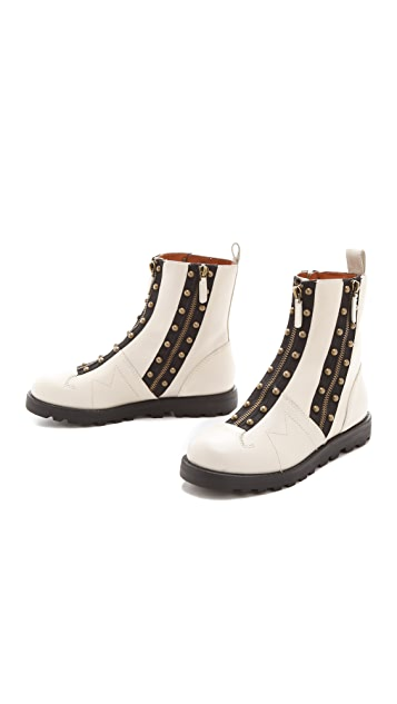 Marc by Marc Jacobs Studded Monkey Zip Up Booties