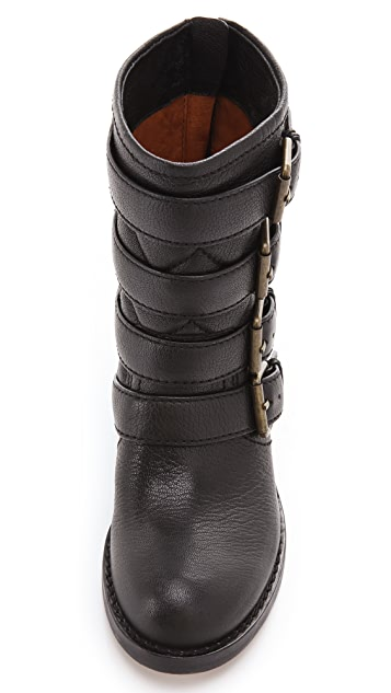 Marc by Marc Jacobs Biker Buckle Booties