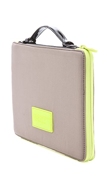 Marc by Marc Jacobs Patent Standard Supply Neoprene Tablet Case