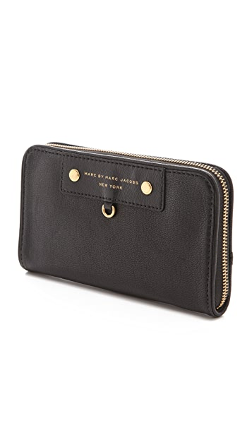 Marc by Marc Jacobs Preppy Leather Large Zip Around Wallet