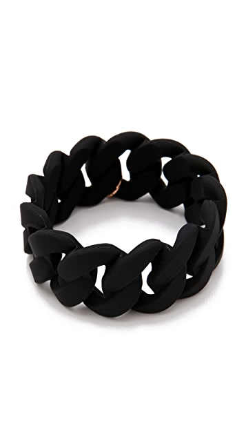 Marc by Marc Jacobs Wide Rubber Katie Bracelet
