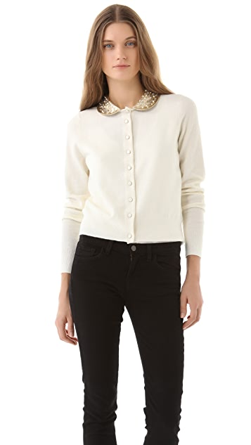 Marc by Marc Jacobs Mika Sweater with Leather Collar