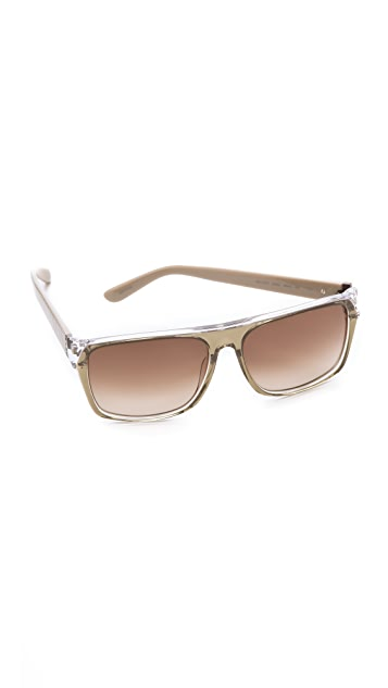 Marc by Marc Jacobs Striped Flat Top Sunglasses