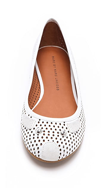 Marc by Marc Jacobs Perforated Mouse Flats