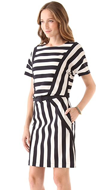 Marc by Marc Jacobs Scooter Stripe Short Sleeve Dress