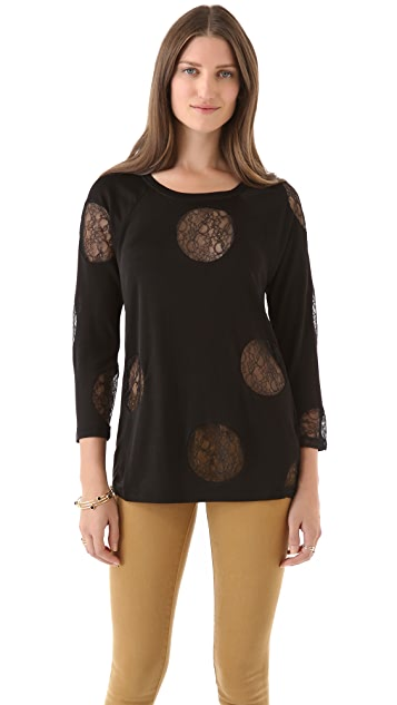 Marc by Marc Jacobs Lucie Dot Jersey Top