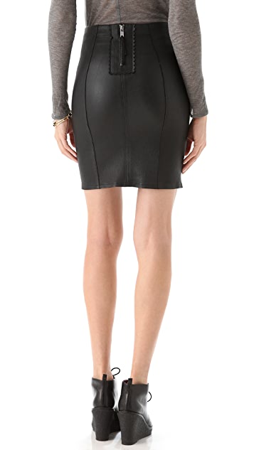Marc by Marc Jacobs Mirah Leather Pencil Skirt