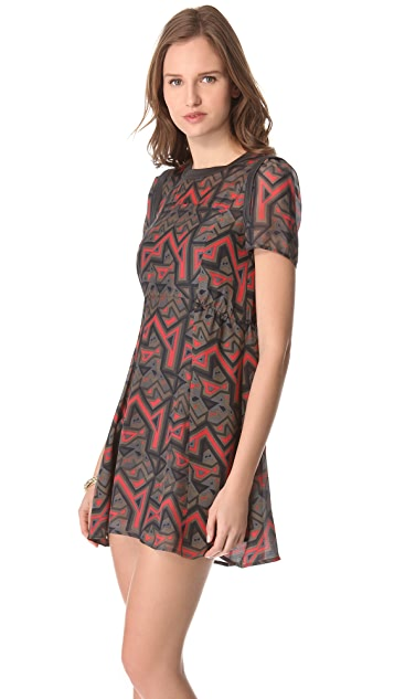 Marc by Marc Jacobs Geo Maze Print Dress