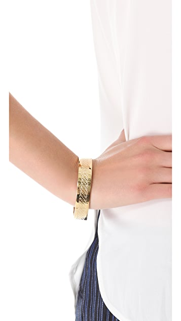 Marc by Marc Jacobs Engraved Turnlock Bangle