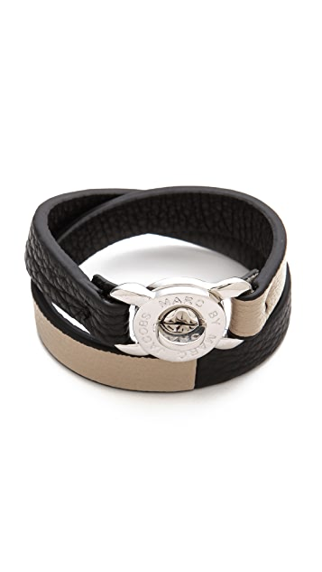 Marc by Marc Jacobs Katie Double Wrap Leather Bracelet