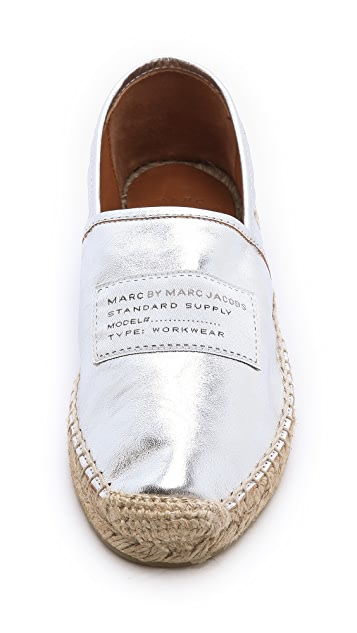 Marc by Marc Jacobs Metallic Slip On Espadrilles