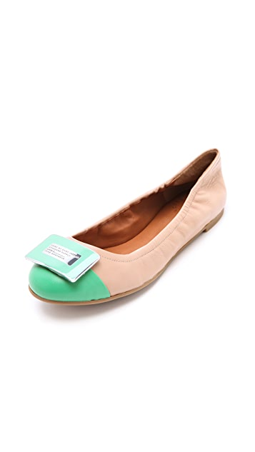 Marc by Marc Jacobs Exclusive Bicolor Logo Plaque Flats