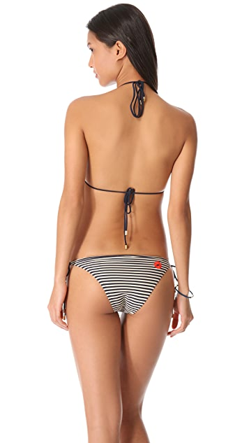 Marc by Marc Jacobs Stripey Mademoiselle Danger Triangle Bikini Top