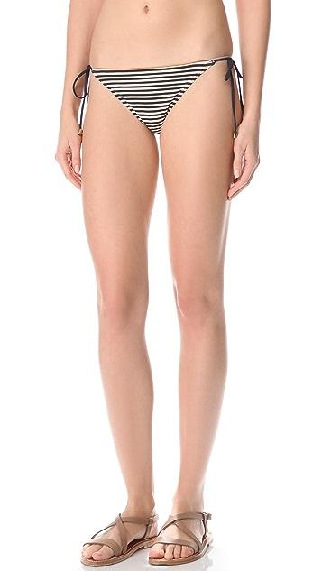Marc by Marc Jacobs Stripey Mademoiselle Danger Side Tie Bikini Bottom