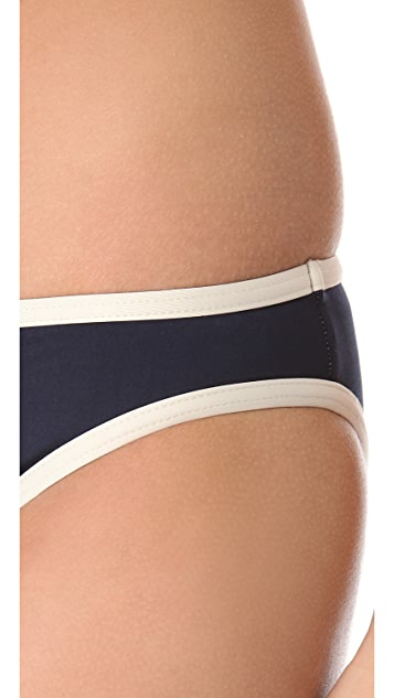 Marc by Marc Jacobs Woodward Solids Side Tie Bikini Bottoms