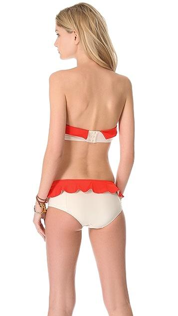 Marc by Marc Jacobs Colorblock Bandeau Bikini Top