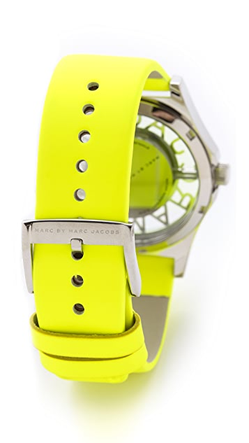 Marc by Marc Jacobs Henry Skeleton Leather Watch