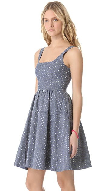 Marc by Marc Jacobs Dotty Chambray Dress