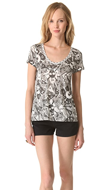Marc by Marc Jacobs Bones Print Tee