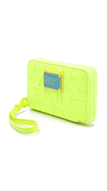 Marc by Marc Jacobs Dreamy Logo Neoprene Wingman Wristlet