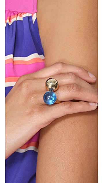 Marc by Marc Jacobs Ball & Chains Double Ring