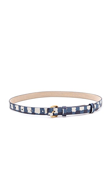 Marc by Marc Jacobs Molly Check Tab Belt