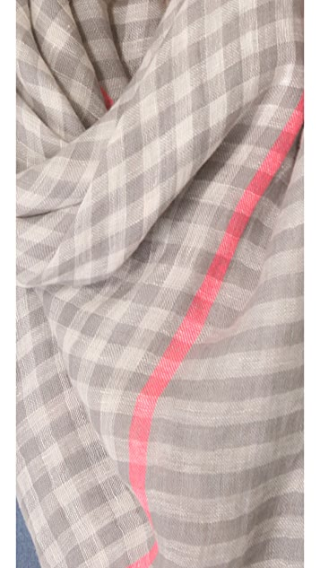 Marc by Marc Jacobs Woven Belinda Check Scarf