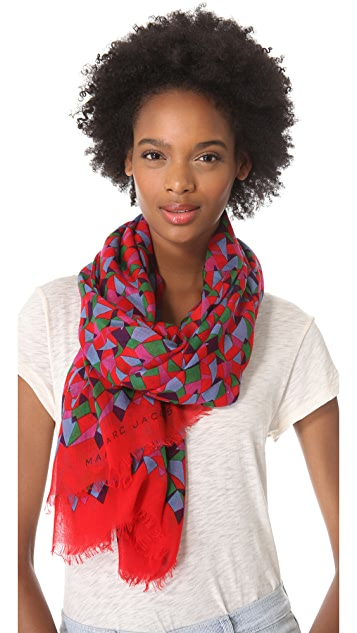 Marc by Marc Jacobs Woven Taboo Print Scarf