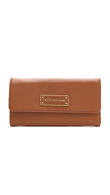 Marc by Marc Jacobs Too Hot To Handle Original Long Trifold Wallet