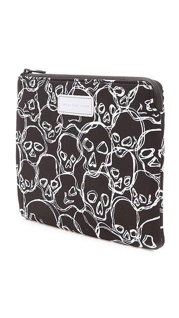 Marc by Marc Jacobs Neoprene Neon Skulls Tablet Zip Case