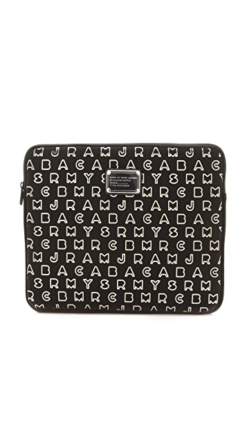 Marc by Marc Jacobs Dreamy Logo Neoprene Metallic 13
