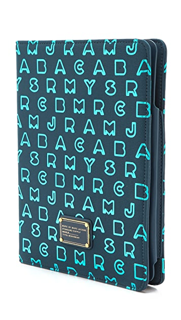Marc by Marc Jacobs Dreamy Logo Neoprene Metallic Tablet Book