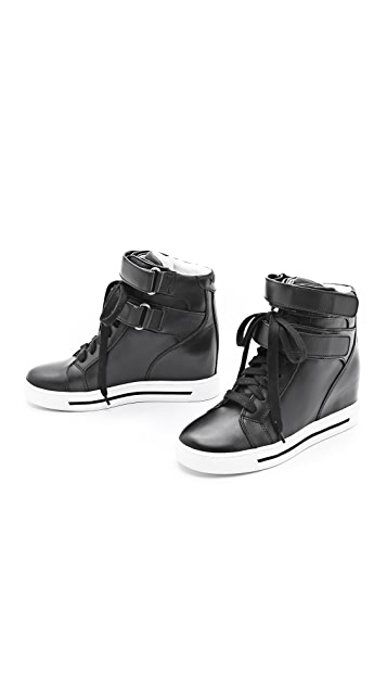 Marc by Marc Jacobs Strappy Hi Top Wedge Sneakers