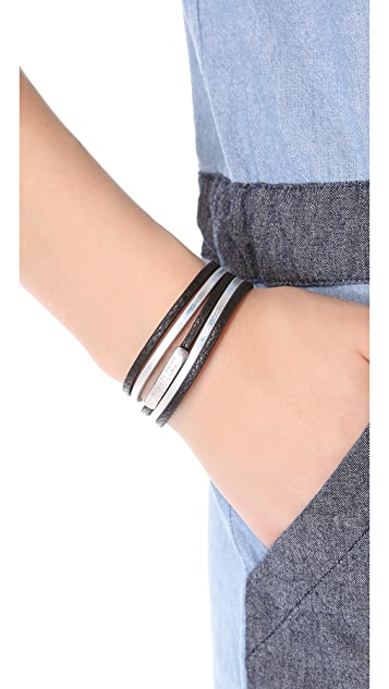 Marc by Marc Jacobs Multi Leather Toggle Bracelet