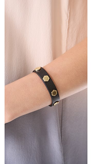 Marc by Marc Jacobs Bolts Leather Bracelet