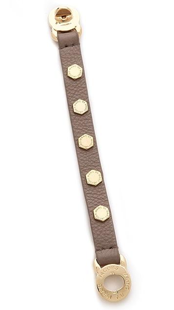 Marc by Marc Jacobs Bolts Leather Bracelet