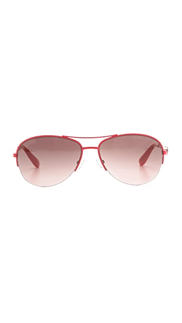 Marc by Marc Jacobs Metal Bird Aviator Sunglasses