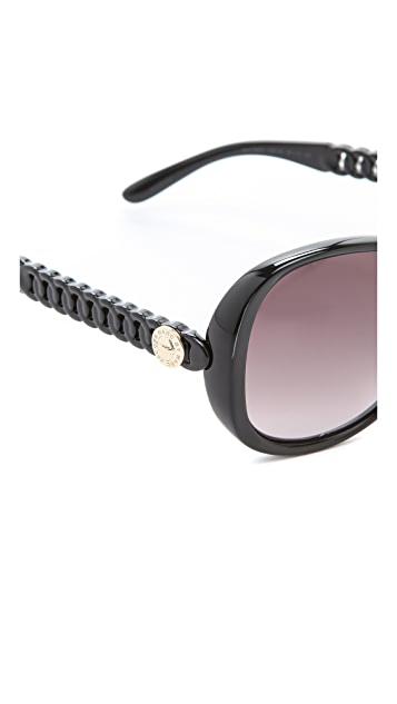 Marc by Marc Jacobs Glam Logo Button Sunglasses