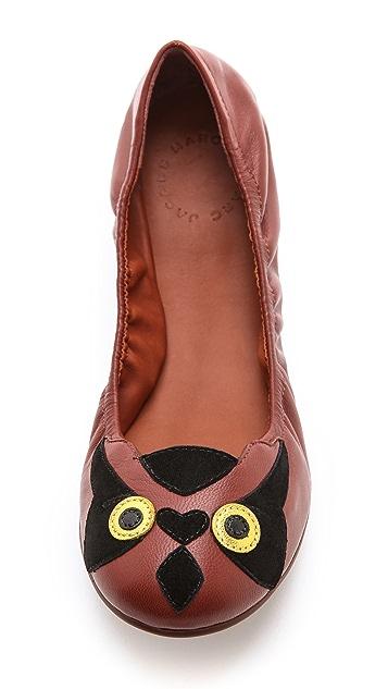 Marc by Marc Jacobs Elastic Owl Ballet Flats