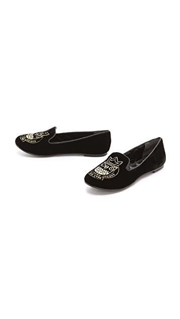Marc by Marc Jacobs Logo Smoking Loafers