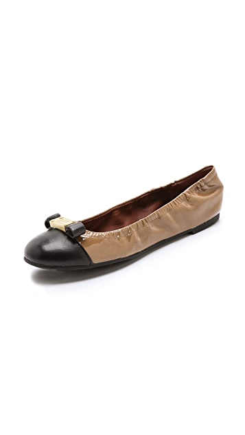 Marc by Marc Jacobs Patent Logo Plaque Flats