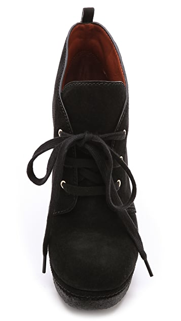 Marc by Marc Jacobs Lace Up Suede Platform Booties