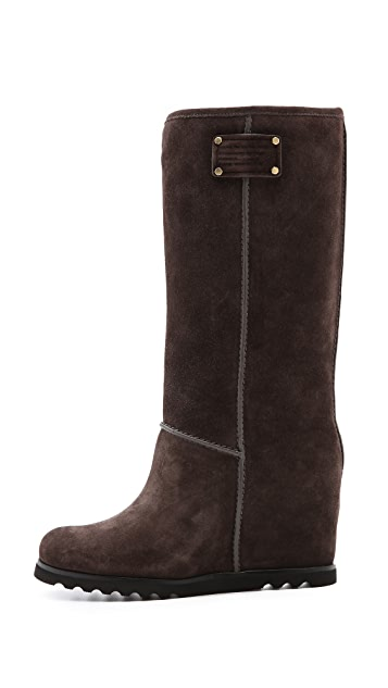 Marc by Marc Jacobs Tall Snow Boots on Hidden Wedge