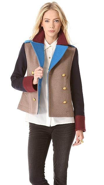 Marc by Marc Jacobs Nicoletta Colorblock Wool Jacket