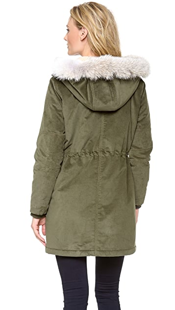 Marc by Marc Jacobs Rainbow Corded Twill Parka